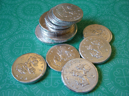Chocolate coins (500)