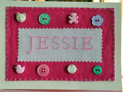 Card for Baby Jessie